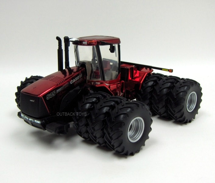 Case IH Steiger 535 4WD met 3-Dubbellucht Farm Show Edition 2010 Metallic Chrome Red