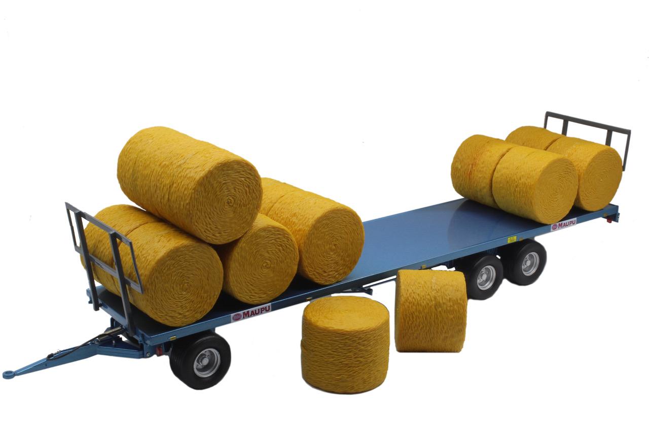 Maupu Plattewagen met balen