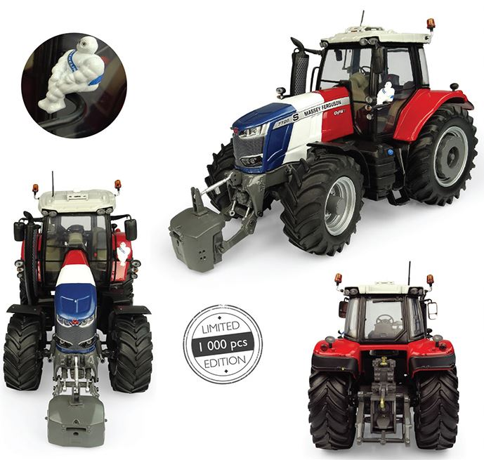 Massey Ferguson 7726S Blue/Blanc/Rouge - Limited Edition