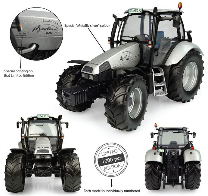 Deutz-Fahr Agrotron 120 MK3 No.555 Zilver - Limited Edition