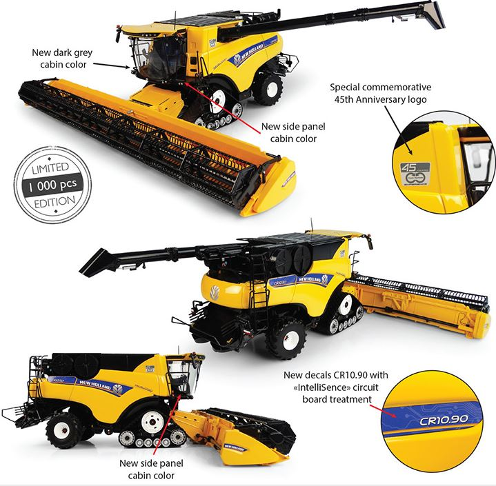 New Holland CR10.90 Revelation with Tracks 45 Years of Twin Rotor Technology - Limited Edition