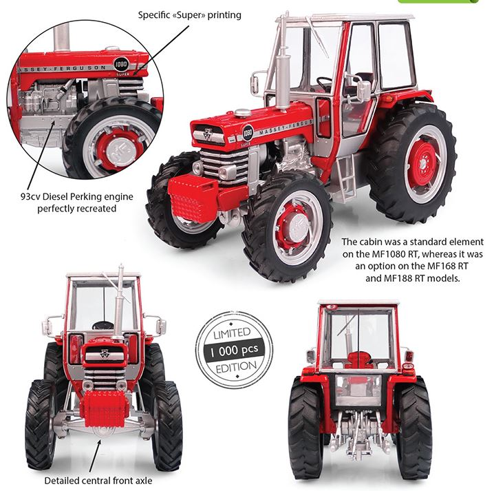 Massey Ferguson 1080 Super RT 4wd 1973 - Limited Edition