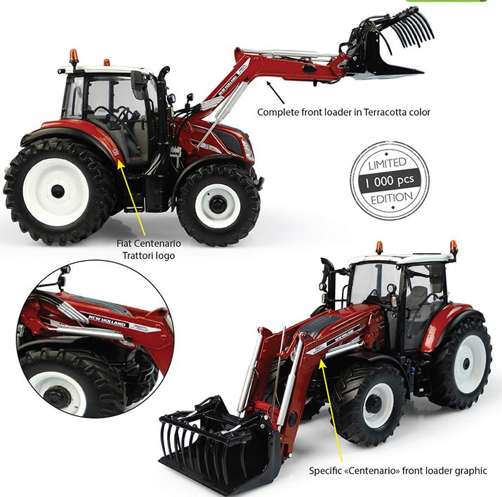 New Holland T5.120 met 740TL voorlader Centenario - Limited Edition