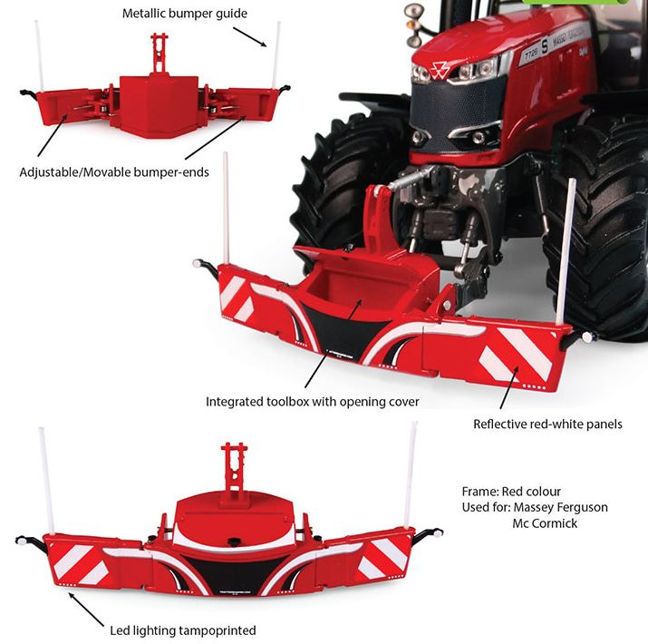 Tractorbumper Safetyweight 800kg - Rood