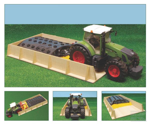 Sleufsilo hout 30x60x6 voor traktoren 1:16