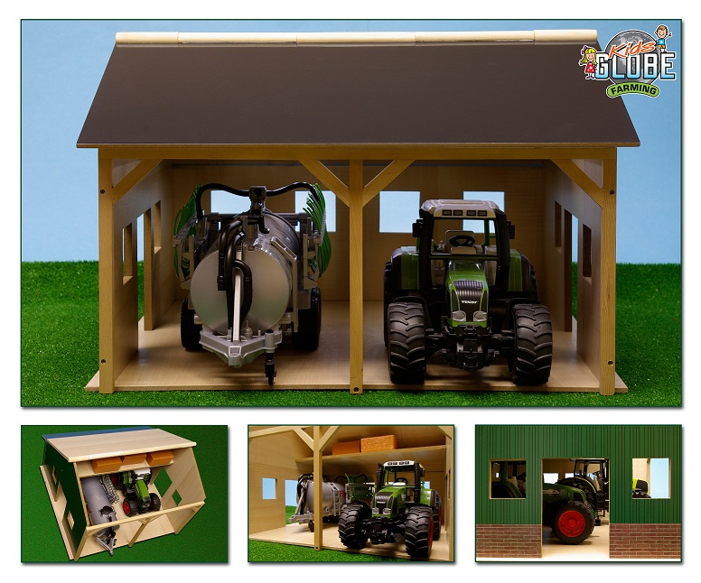 Landbouwloods hout voor 2 traktoren 55x53x38cm