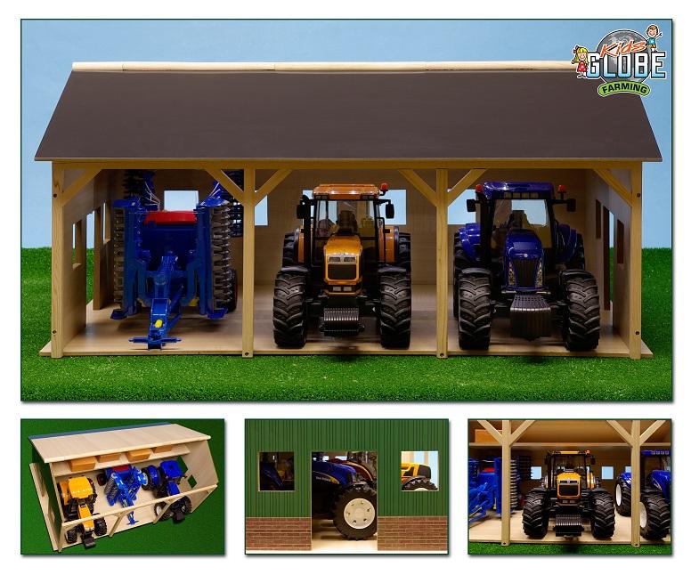 Landbouwloods hout voor 3 tractoren 55x77.5x38 cm