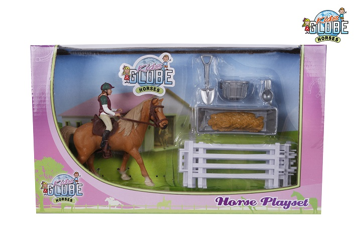 Speelset Paard met ruiter en Accessoires